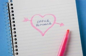 A romantic note on a coiled notebook.
