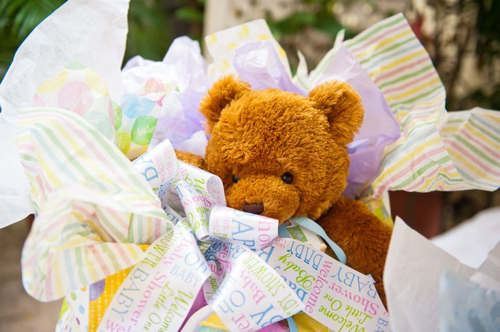 Teddy bear baby shower gift