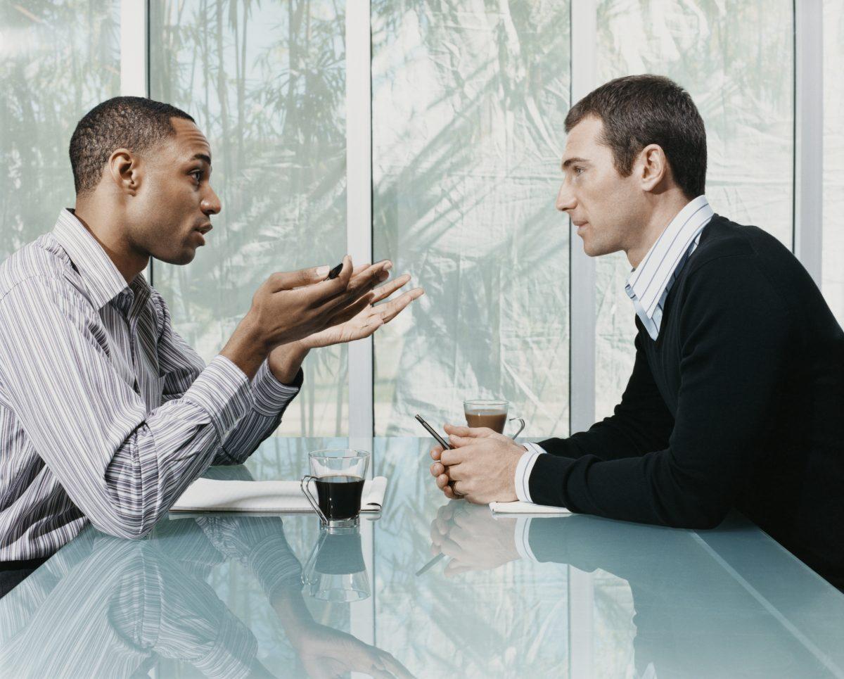 Секс во время деловых разговоров