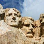The four presidents at Mount Rushmore in South Dakota
