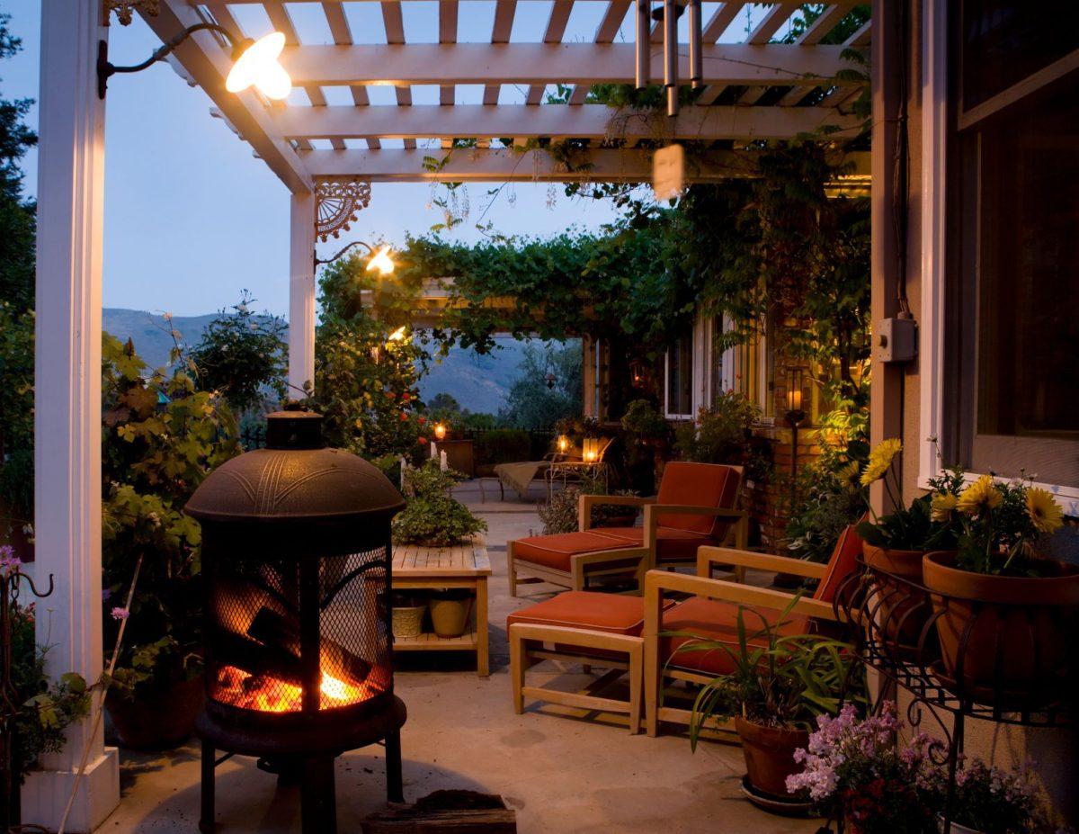 Resort like home patio area