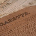 Authentic newspapers from the 1800's