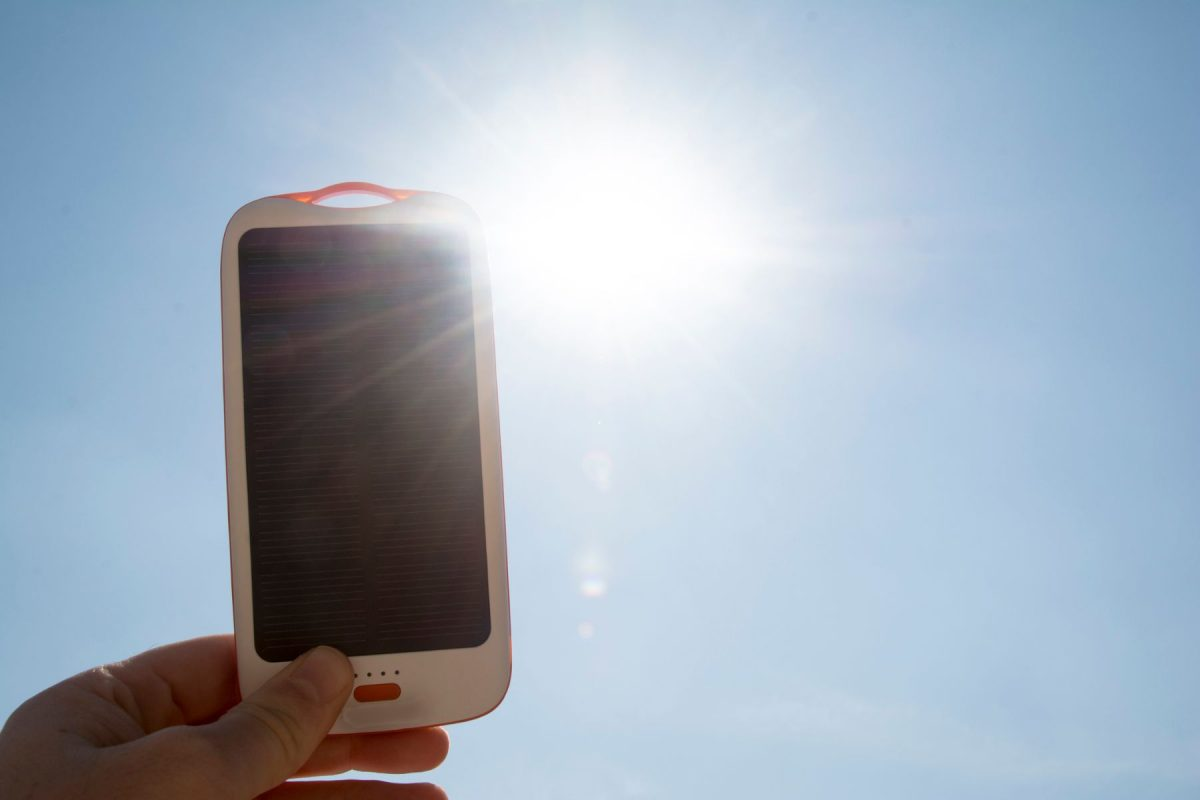 Solar Charger In The Sun